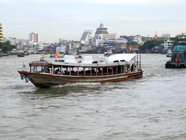 Water bus on the Chao Praya River in Bangkok