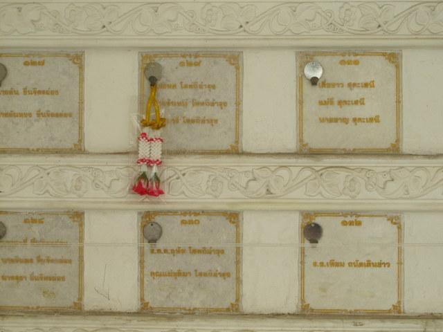 PO Box for Bones at Wat Prayoon