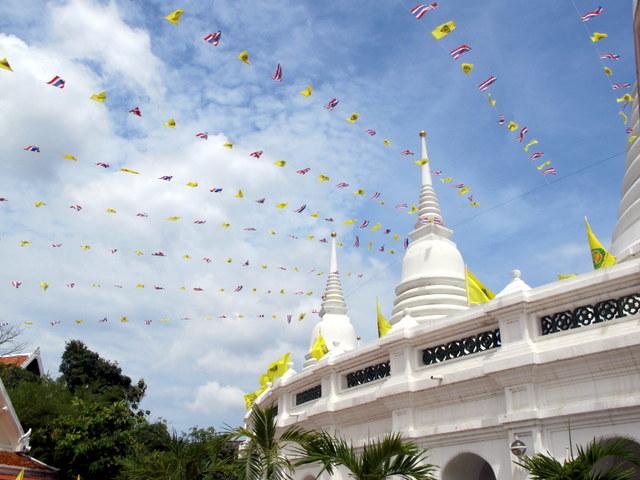 Prayer flags at Bangkok's Wat Prayoon