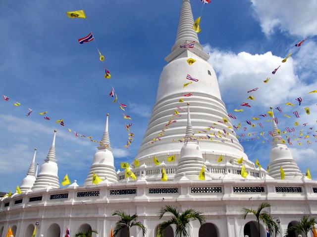 Prayer Flags at the Chedi in Wat Prayoon, Bangkok