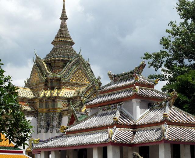 Temple Roofs at Bangkok's Wat Po