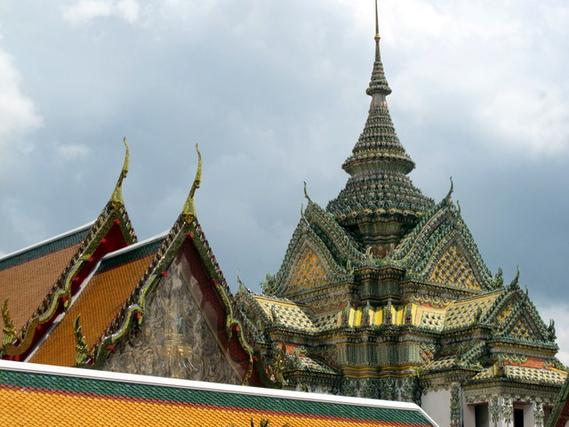 The spires of Wat Po Temple, Bangkok