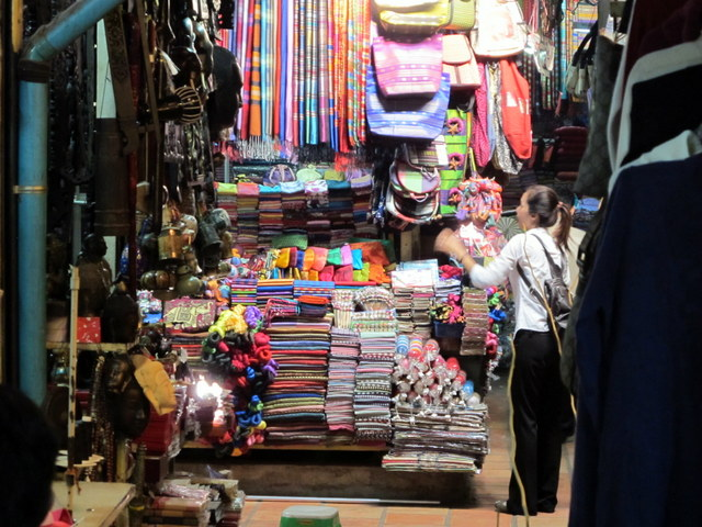 The old Russian Market in Phnom Penh where one can buy anything & everything