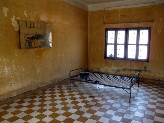 Cell in the Genocide Museum Phnom Penh