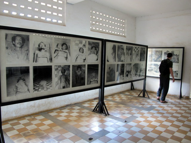 Images of torture victims at the Genocide Museum  in Phonm Penh