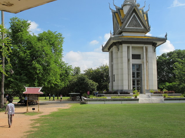 Stupa holding the bones of victims at the Killing Field