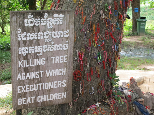 Killing Tree uses to kill the children at the Killing Field