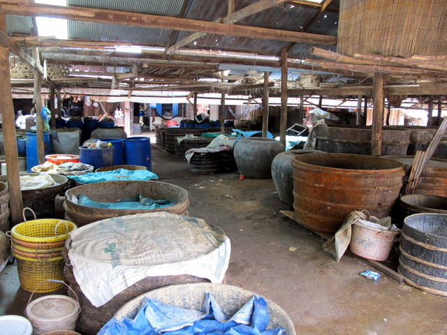 Vats of fermenting fish paste