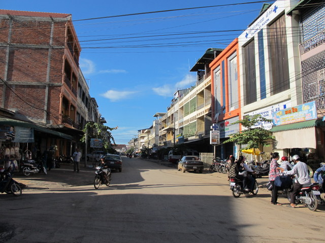 Commercial Street in Battambang, Cambodia