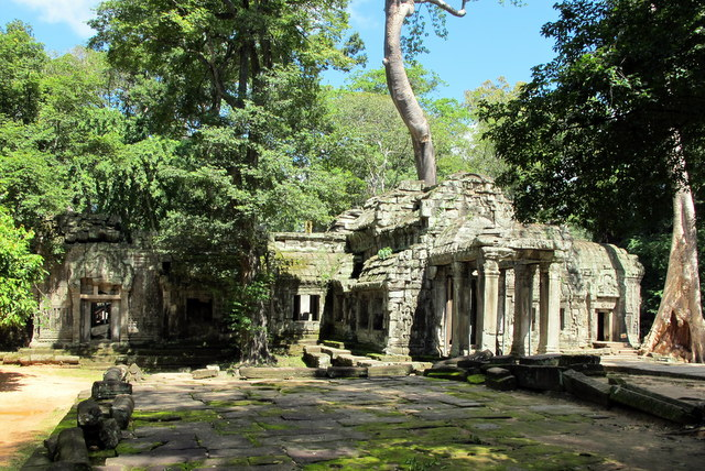 Entrance to the magical Ta Prohm Temple