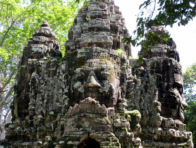 Some of the many faces of The Bayon Temple