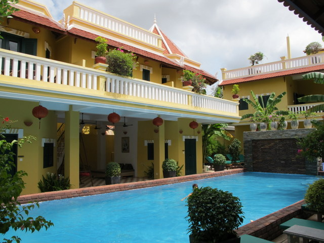 Swimming pool at the Golden Monkey in Siem Reap