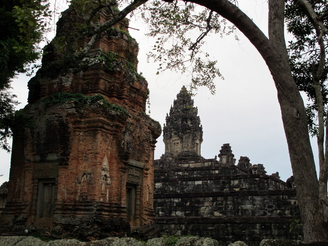 The Temple of Bakong with one of its brick towers