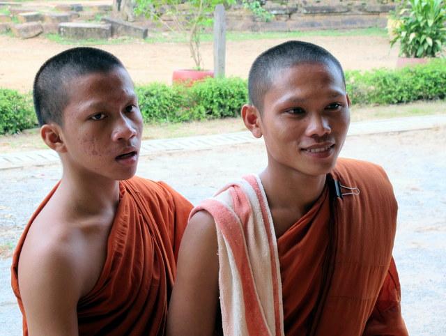 Young monks at Wat Prasat Bakong