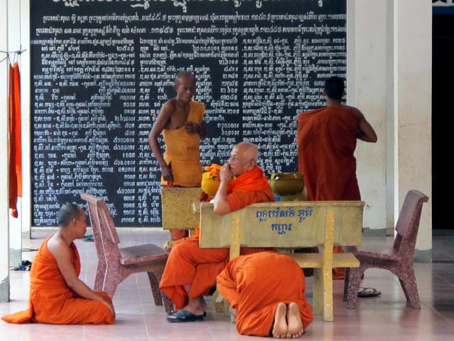 Monks in class at Wat Prasat Bakong