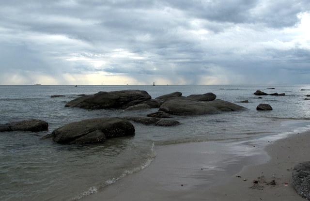 Dawn at the beach in Hua Hin