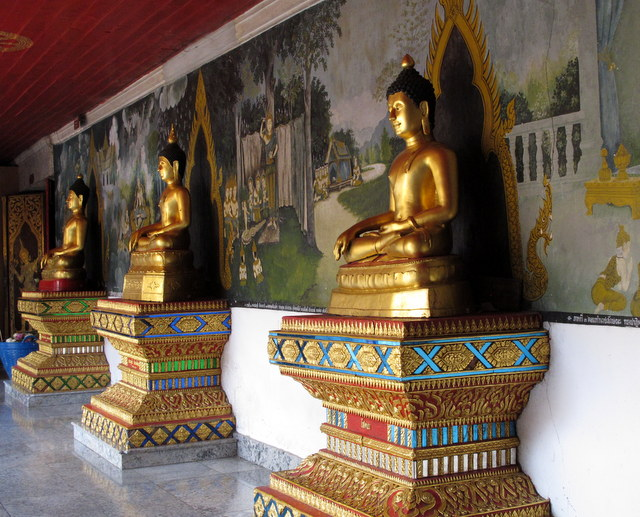 Hall of Buddha's at Wat Doi Suthep