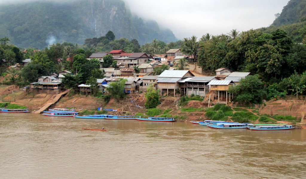 Nong Khiaw on the banks of the Nam Ou River