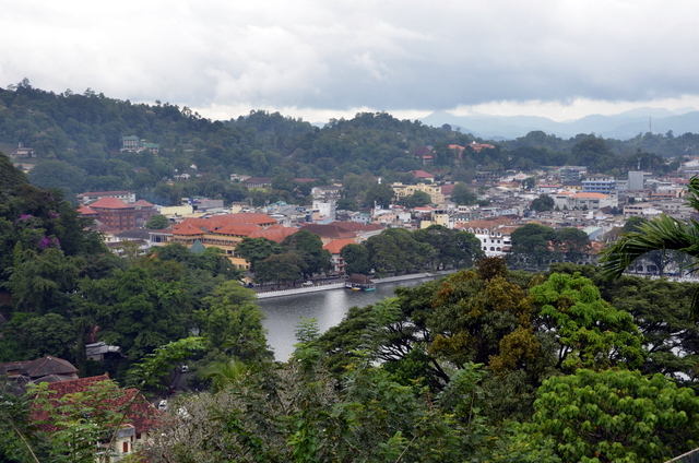 The view coming into the hill town of Kandy in Sri Lanka.