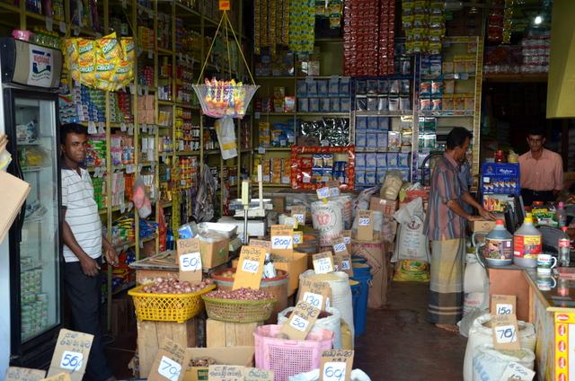 A small neat little grocery on a side street in downtown Kandy, Sri Lanka