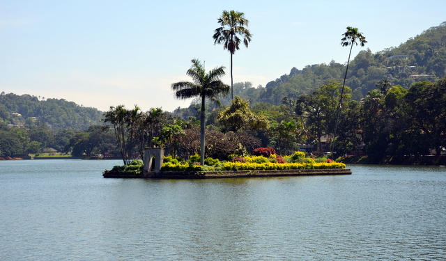 Island in Kandy Lake