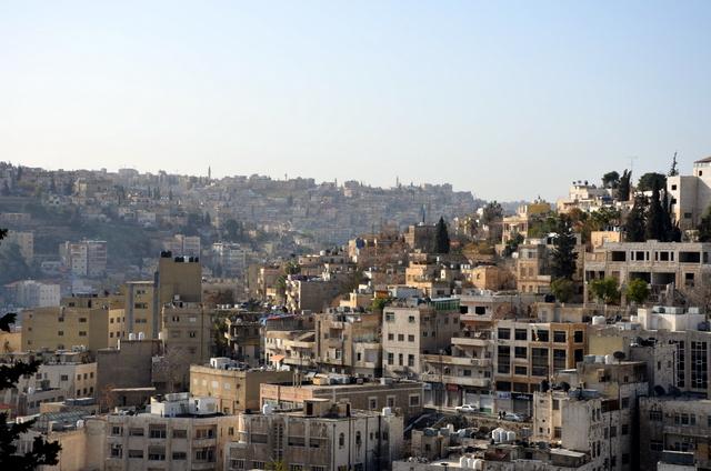 The hills of Amman, Jordan
