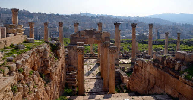 Jerash...Ruins of the 2nd century Roman city in the North of Jordan