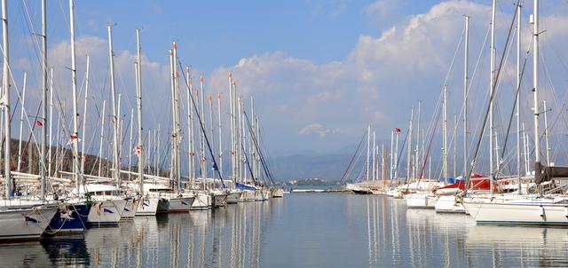 The harbor of Fethiye in Turkey