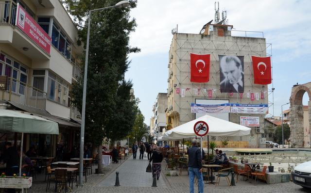 Town square in Selcuk, Turkey