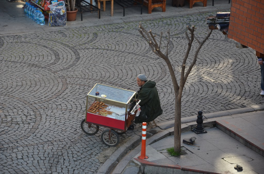 Pretzel seller in Sultanahmet