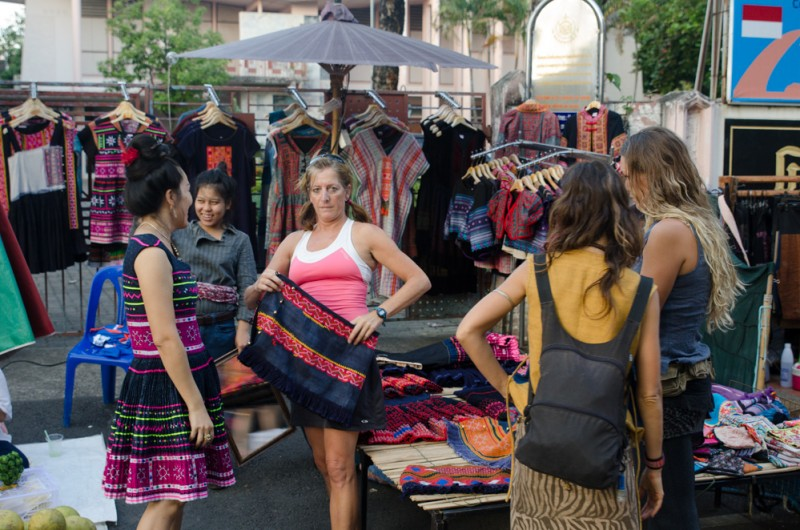 Shopping at the Sunday Night Market