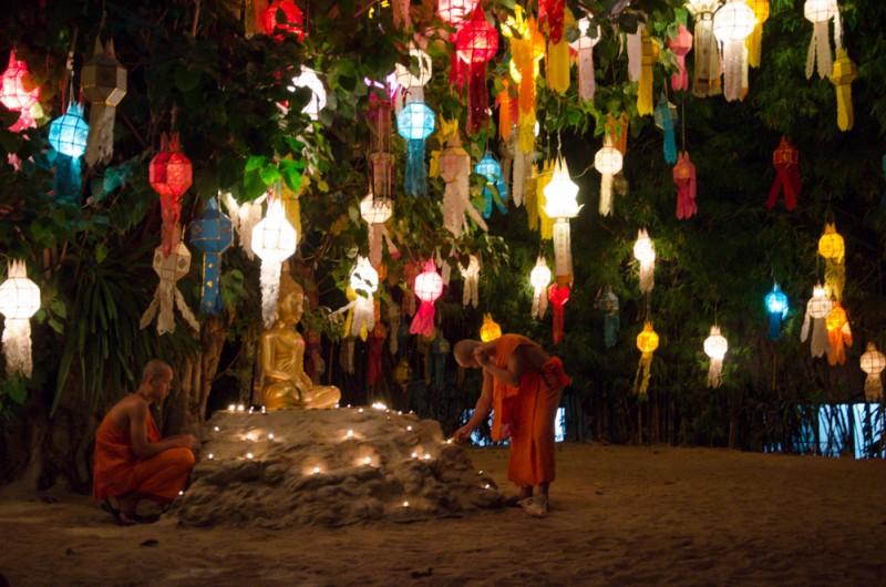 Lantern Festival at Wat  Pan Tao