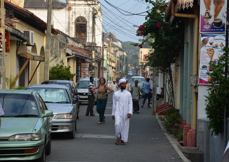The streets of Galle