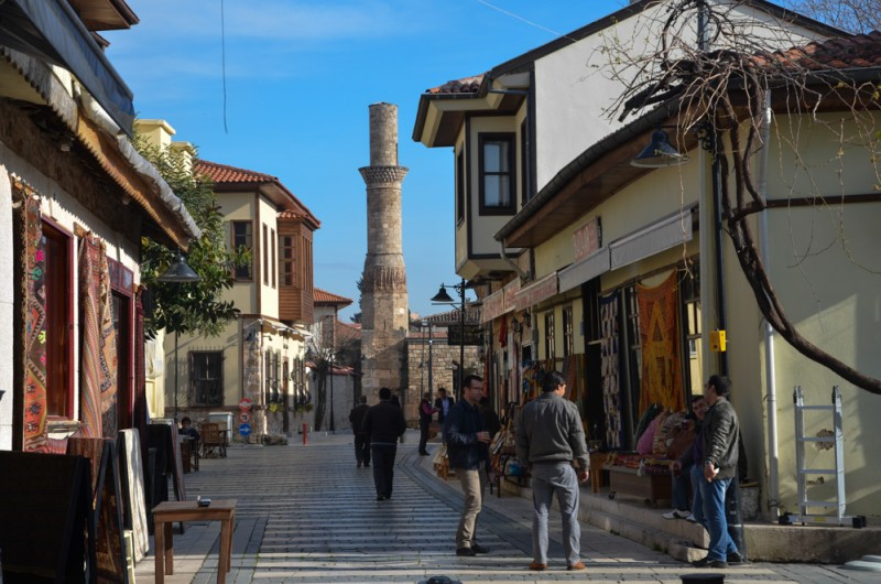 Historic neighborhood in Antalya, Turkey