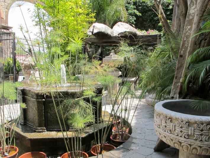 Courtyard in San Miguel de Allende, Mexico