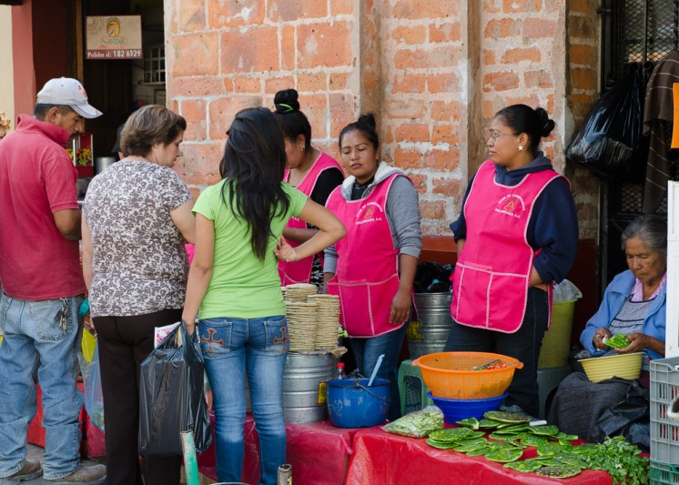 Delores Hidalgo: a lunch stand at the market