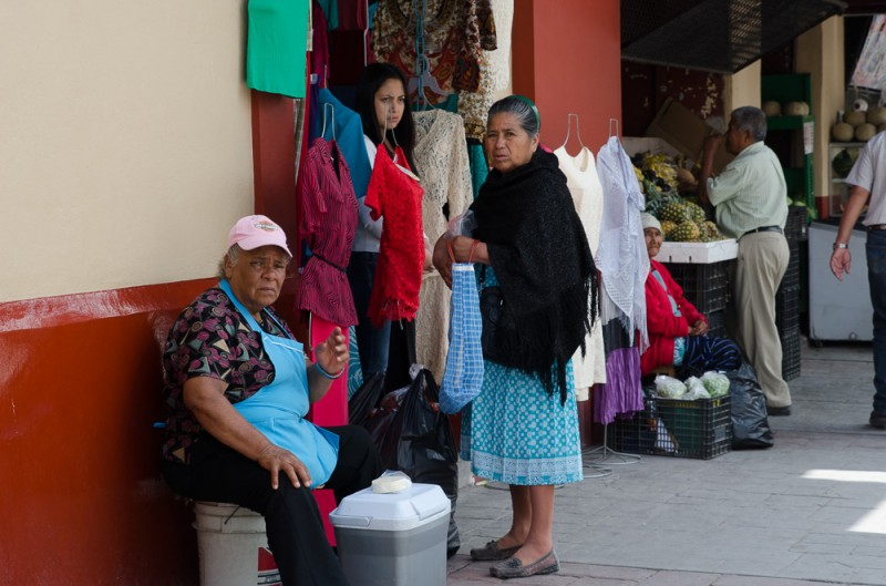 Shoppers in the Mercado in Dolores Hidalgo...a real Mexican Town.