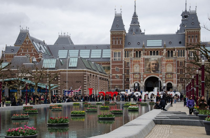 The Rjksmuseum in Amsterdam, Holland