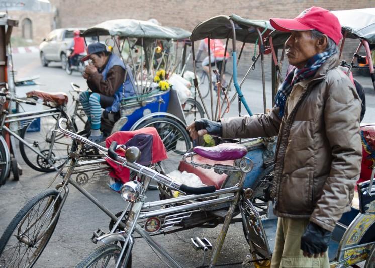 Rickshaw drivers at the Chiang Mai Gate